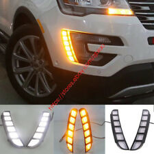 Exact For Ford Explorer 2016-17 LED Daytime Running Light DRL Fog Lamp w/ signal