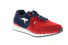 Roos R2 1CM00510-422 Mens Red Suede Lace Up Low Top Sneakers Shoes