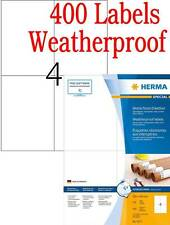 400 Herma 4377 A4 Weatherproof Abrasion Oil Dirt Resistant Outdoor Sticky Labels
