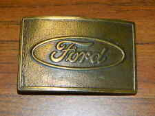 Ford Brass Belt Buckle Script Logo Old Vintage  Vintage USA