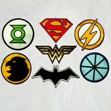 Justice League Set 7 Embroidered Patches Logos Batman Superman Flash Unlimited