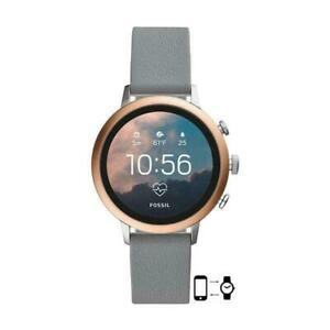 Fossil Gen 4 Venture HR Smartwatch 40mm Stainless Steel with Gray Silicone Band