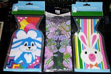Easter Treat Bags w/Ties 2 Bunny Rabbit 1 Happy Easter w/Butterflies - 46 total