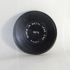 Used 62mm Screw-in Metal Lens Front Cap for Filter Stack male Threads