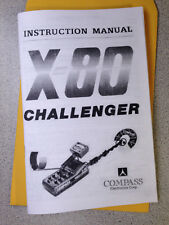 Metal Detector Instruction Manual Compass X-80 Challenger Find Treasure Hobby