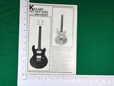 Kramer electric guitar gets hot with DiMarzio vintage advert