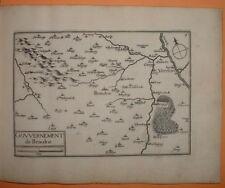 TAS 006 TASSIN 1634 BOURGOGNE - ANTIQUE PLAN GOUVERNEMENT DE BEAUNE