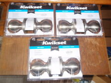 3-Kwikset Bed & Bath Door Knobs Satin Nickel #300P-15-CP BBPKG-New