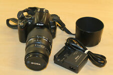 Nikon D5000 12.3MP Digital SLR Camera w/ Sigma 70-300mm Lens * Pre-owned*