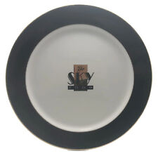 """Sky Room Long Beach Breakers Hotel Porcelain Charger Plate Logo Gold Trim 12"""""""
