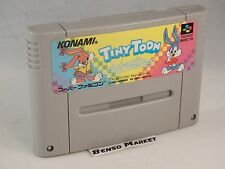 TINY TOON ADVENTURES BUSTERS BUSTS LOOSE NINTENDO SUPER FAMICOM SNES JAP IMPORT