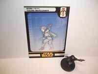 Star Wars Miniatures - Boba Fett, Young Mercenary 42/60 + Card - Rare - ROTS