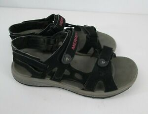 Merrell Outdoor Sandals Shoes Womens Sz 6 Black Rose Red Hiking Walking Strappy