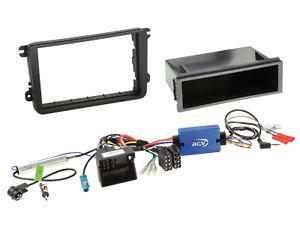 2-DIN Autoradio Einbauset mit Ablagefach und Lenkradfernbedienungsadapter passen