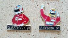pin's pins A.Senna et G.Berger 2 pin's