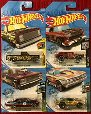 Lot of 4 Hot Wheels Chevy 83 Silverado, Classic 55 Nomad, Chrome Chevelle, 64 SS