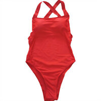 New Womens One Piece Bikini Swimwear Push Up Bandage Monokini Swimsuit Beachwear