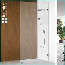Shower Panel 1100 Frameless Screen Single Wet Room 10mm Tough Glass AU Standard