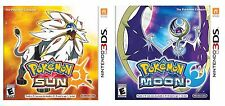 Pokemon Sun and Pokemon Moon Dual Pack COMBO DEAL- Nintendo 3DS New US Version