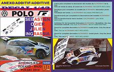 ANEXO DECAL 1/43 VOLKSWAGEN POLO R WRC S.OGIER R.POLAND 2014 WINNER (12)