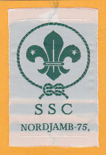 1975 World Scout Jamboree SENIOR SCOUTS CAMP (SSC) SUBCAMP OFFICIAL PATCH ~ RARE