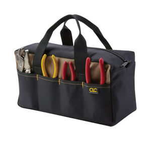 CLC 5.5 in. W x 6 in. H Polyester Tool Tote 8 pocket Black/Tan 1 pc.