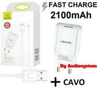 CARICA BATTERIA 5V 2A ORIGINALE USAMS +CAVO USB TYPE C HUAWEI P9 P10 P20 P30 PRO