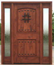 TUSCANY 2 PANEL ARCHED TOP ENTRY DOOR WITH SIDE LITES