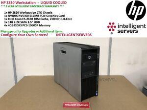 HP Z820 Workstation, 1x Xeon E5-2650 2.00GHz, 16GB DDR3, 1TB HDD, Quadro NVS300