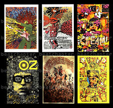 MARTIN SHARP Poster Postcards Jimi Hendrix Bob Dylan Cream Psychedelic UFO Big O