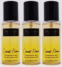 3 Victoria's Secret COCONUT PASSION Fine Fragrance Mist Spray Travel Size 2.5 oz