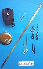 Clock Kit - SHORT Shaft Pendulum Battery Quartz Movement - w/ Hands! NEW! 603