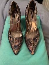 J. Renee AlexaJJ Lace Floral Embellished Women's Heels Sz 9 1/2 M CLASSY SEXY