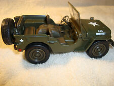 G-SCALE 1/32 DieCast Willys U.S.Army Jeep for USA Trains Auto Cars or flatcars