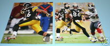 2 STEELERS HINES WARD 8X10 COLOR PHOTOS