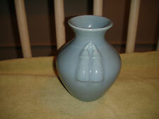 Vintage Tassel Pottery Vase-Marked B299-Blue Gray Color-Weller Or McCoy Style