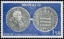 """MONACO N° 1231 """"NUMISMATIQUE, ECU D'ARGENT DE 1649""""NEUF xxTTB"""