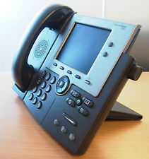 Cisco CP-7945G + CP-PWR-CUBE-3 SIP/SCCP Loaded VoIP Phone 6MthWty TaxInv CCNA