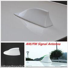 Universal White Car Auto Roof Shark Fin Antenna Aerial FM/AM RV Radio Signal Kit