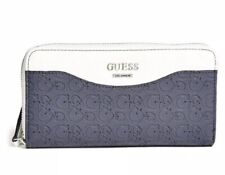 Guess Cianna Zip Around Wallet Fade Navy/Optic White