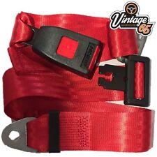 Morris Minor 1000 Front Rear Lap & Diagonal Static 3 Point Seat Belt Kit Red