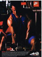 Publicité Advertising 1990 Les Baskets Nike Air avec Bo Jackson