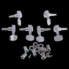 6 Chrome Guitar String Tuning Pegs Tuners Machine Heads Acoustic Electric Sets