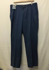 BNWT M&S Men's Trousers, Blue Regular Fit Chino Style W38 L33 (/002)