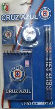 Club Maquina D Cruz Azul Stationary Set Pencils Sharpener Eraser Notepad 5 piece