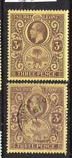 SIERRA LEONE  1912-21   3d   KGV   M&U  SG 116b