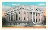 Logansport Indiana~Baptist Church~1935 Postcard