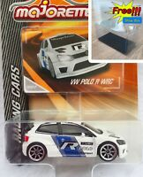 Majorette Volkswagen Polo R WRC White Racing Car 1/57 264D Free Display Box