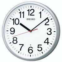 NEW SEIKO Wall Clock Analog Silver Metallic KX230S Japan Import With Tracking