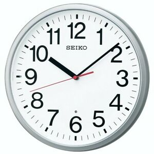 NEW SEIKO Wall Clock Analog Silver Metallic KX230S Japan Import With Tracking